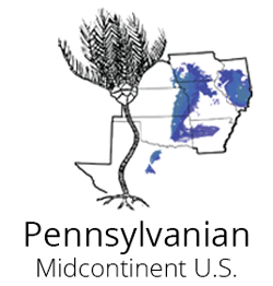 Logo for the Pennsylvanian Atlas of Ancient Life Fossils Paleontology