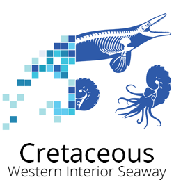 Logo for the Cretaceous Atlas of Ancient Life Fossils Paleontology