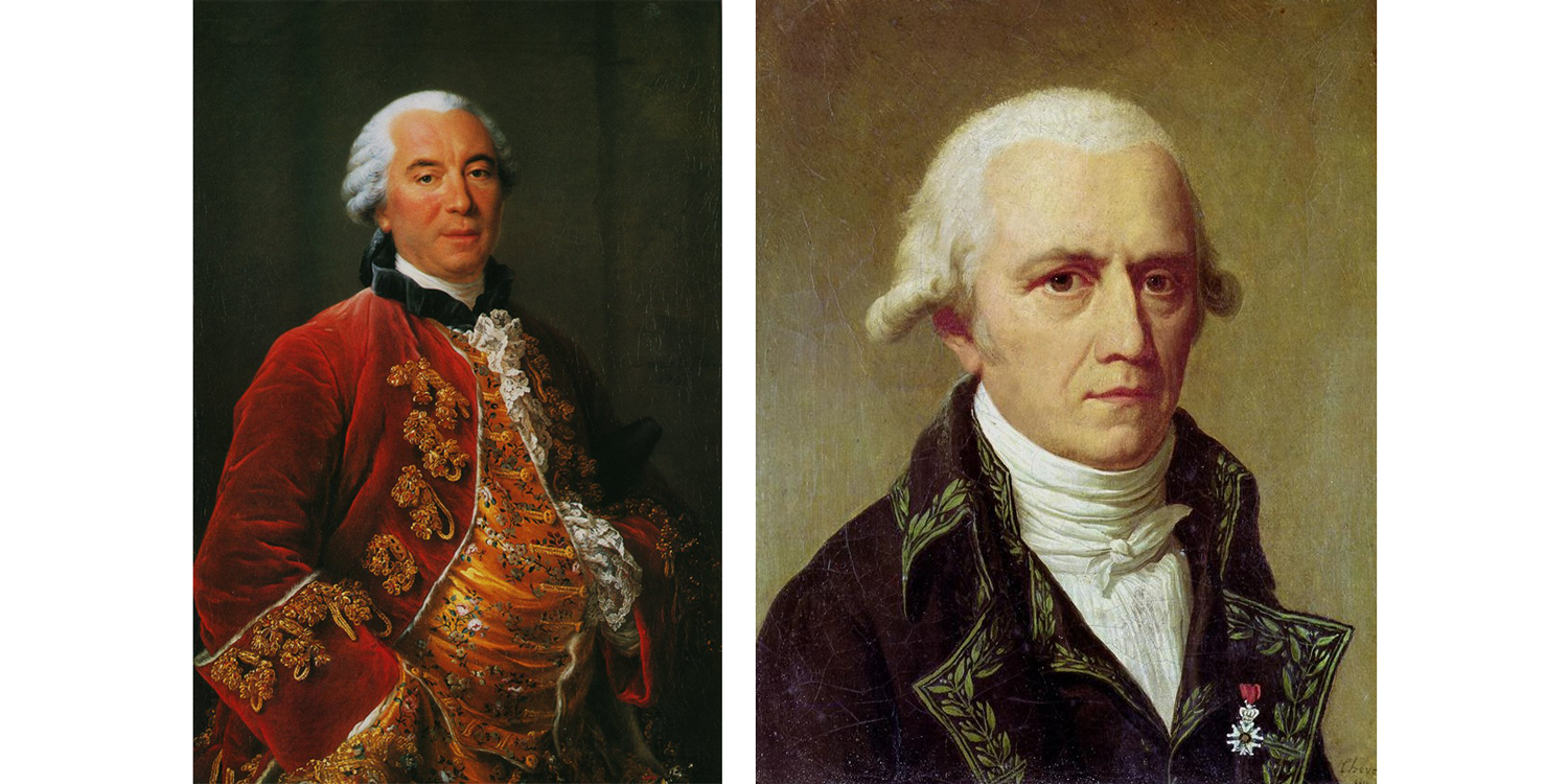 Image shows portraits of Buffon and Lamarck.