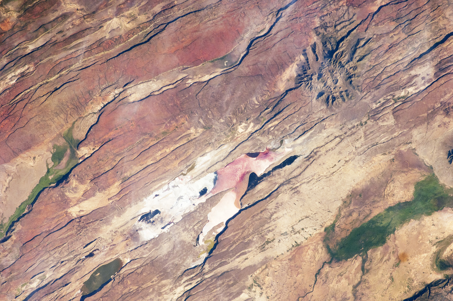 Photograph from space of the East African Rift Valley.